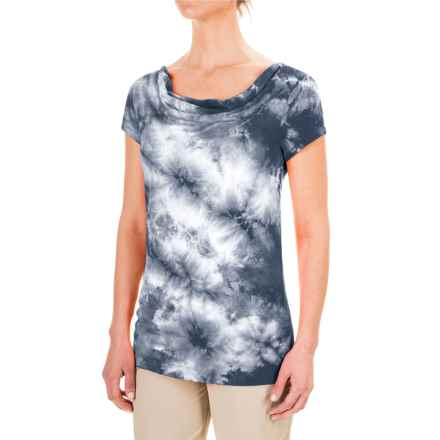 Royal Robbins Stargazer Tie-Dye Shirt - Short Sleeve (For Women) in Jet Black - Closeouts