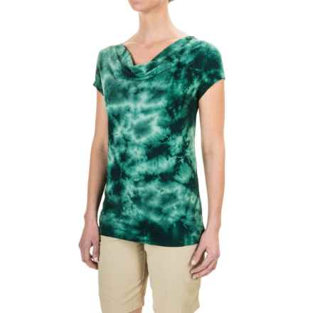 Royal Robbins Stargazer Tie-Dye Shirt - Short Sleeve (For Women) in Sea Glass Green - Closeouts