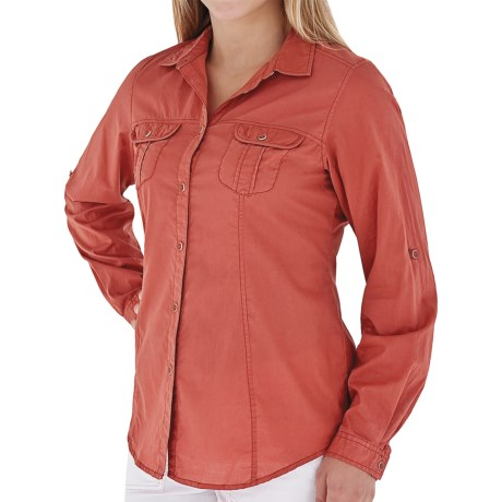 Royal Robbins Summer Camp Shirt - Long Sleeve (For Women) in Salvia Blue