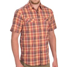 Royal Robbins Summertime Plaid Shirt - Button Front, Short Sleeve (For Men) in Brick - Closeouts
