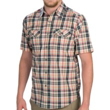 Royal Robbins Summertime Plaid Shirt - Button Front, Short Sleeve (For Men) in Deep Blue - Closeouts