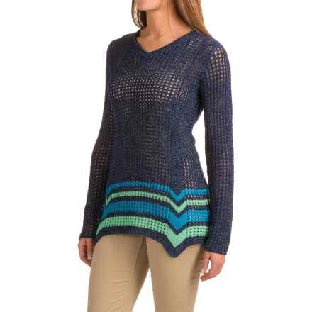 Royal Robbins Summertime Stripe Sweater (For Women) in Deep Blue - Closeouts