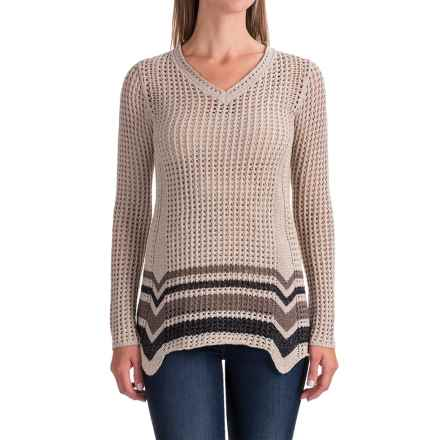 Royal Robbins Summertime Stripe Sweater (For Women) in Light Khaki - Closeouts