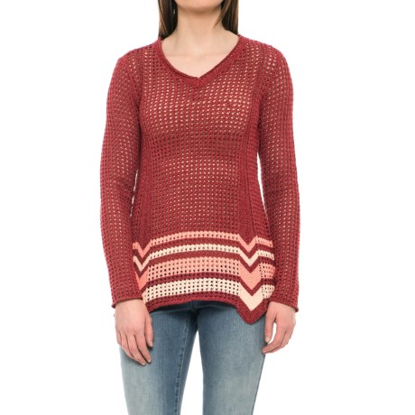 Royal Robbins Summertime Stripe Sweater (For Women) in Pimento