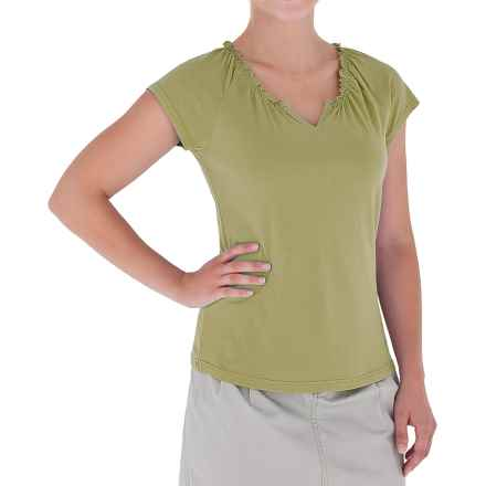 Royal Robbins Tadmor Shirt - Organic Cotton, Short Sleeve (For Women) in Avocado - Closeouts