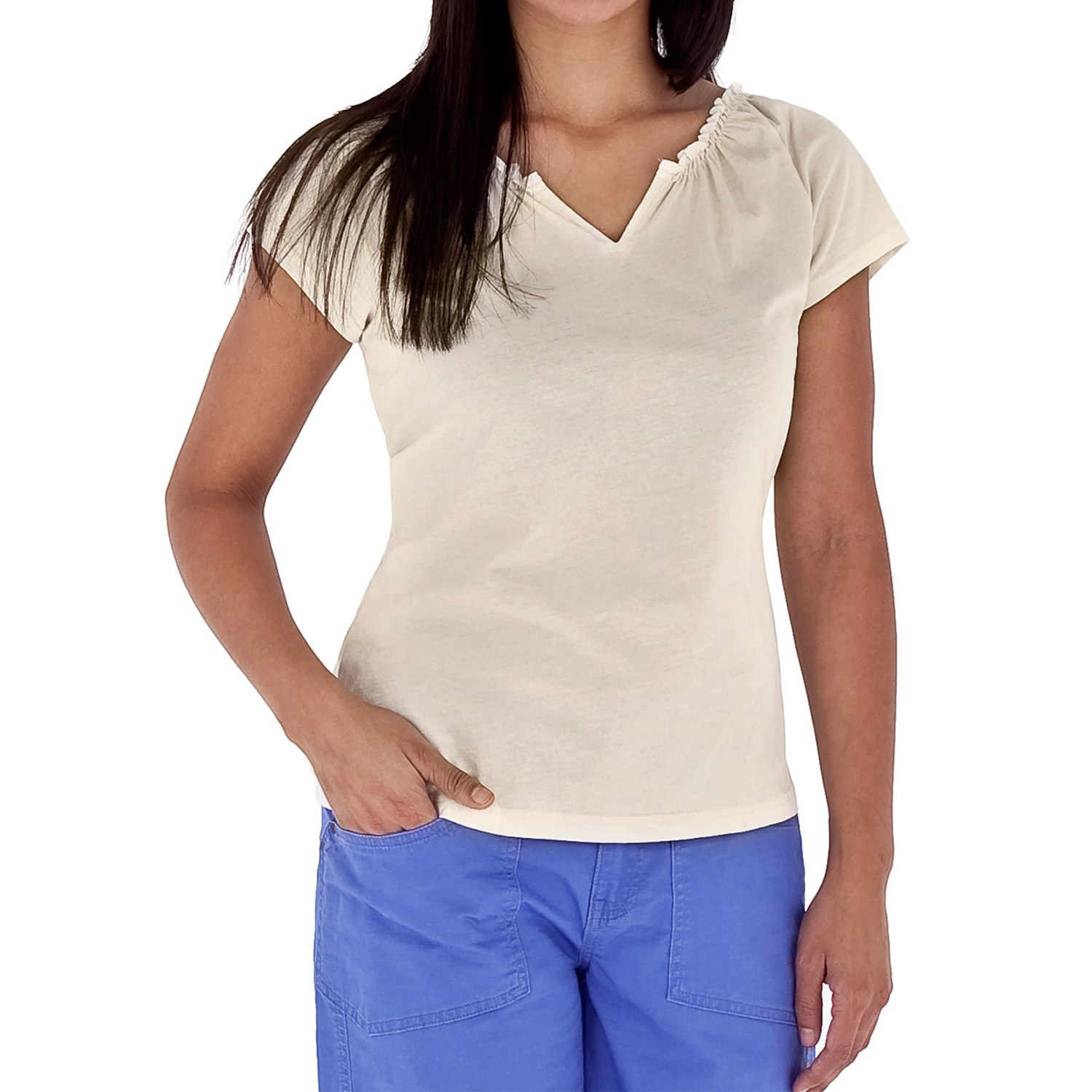 ... Tadmor Shirt - Organic Cotton, Short Sleeve (For Women) in Crème