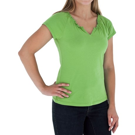 Royal Robbins Tadmor Shirt - Organic Cotton, Short Sleeve (For Women) in Grass