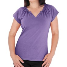 Royal Robbins Tadmor Shirt - Organic Cotton, Short Sleeve (For Women) in Mulberry - Closeouts