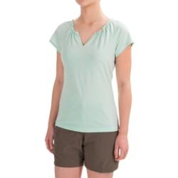 Royal Robbins Tadmor Shirt - Organic Cotton, Short Sleeve (For Women) in Seafoam