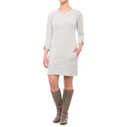 Royal Robbins TENCEL® Terry Dress - UPF 50+, Long Sleeve (For Women) in Heather Grey - Closeouts
