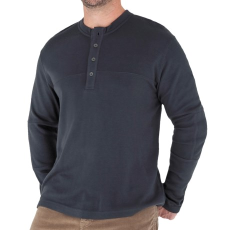 Royal Robbins The Duke Henley Shirt - UPF 25+, Long Sleeve (For Men) in Dark Pewter