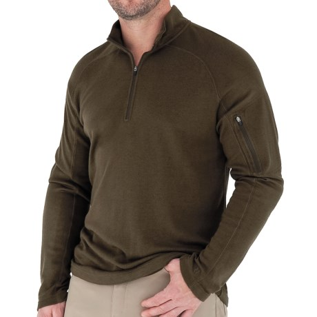 Royal Robbins The Duke Sweater - UPF 50+, Zip Neck, Long Sleeve (For Men) in Timber