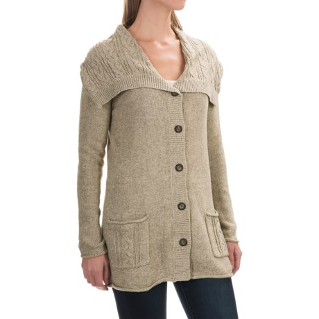 Royal Robbins Three Seasons Cardigan Sweater (For Women) in Light Khaki