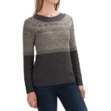 Royal Robbins Three Seasons Sweater - Crew Neck (For Women) in Charcoal - Closeouts
