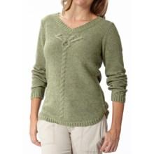 Royal Robbins Three Seasons V-Neck Sweater (For Women) in Aloe - Closeouts