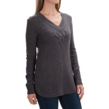 Royal Robbins Three Seasons V-Neck Sweater (For Women) in Charcoal - Closeouts