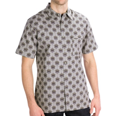Royal Robbins Topography Print Shirt - Short Sleeve (For Men) in Light Pewter