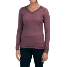 Royal Robbins Torrey Thermal Shirt - V-Neck, Long Sleeve (For Women) in Blackberry - Closeouts