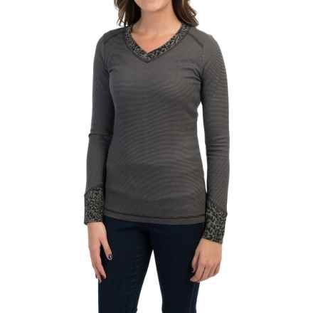 Royal Robbins Torrey Thermal Shirt - V-Neck, Long Sleeve (For Women) in Jet Black - Closeouts