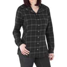 Royal Robbins Transit Plaid Tunic Shirt - Brushed Cotton, Long Sleeve (For Women) in Jet Black - Closeouts