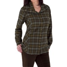 Royal Robbins Transit Plaid Tunic Shirt - Brushed Cotton, Long Sleeve (For Women) in Timber - Closeouts