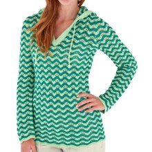Royal Robbins Traveler Pointelle Stitch Knit Hoodie (For Women) in Emerald - Closeouts