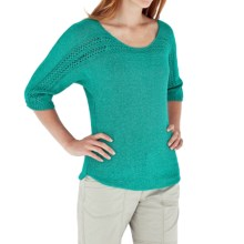 Royal Robbins Traveler Sweater - Boat Neck (For Women) in Emerald - Closeouts