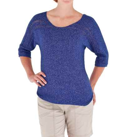 Royal Robbins Traveler Sweater - Boat Neck (For Women) in Splash - Closeouts