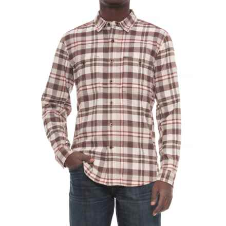 Royal Robbins Treeline Stretch Flannel Shirt - UPF 50+, Long Sleeve (For Men) in Red Rock - Overstock