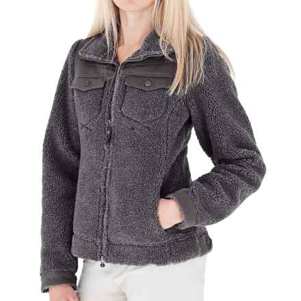 Royal Robbins Tumbled About Jacket - Sherpa Fleece (For Women) in Charcoal - Closeouts