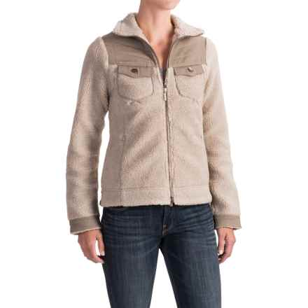 Royal Robbins Tumbled About Jacket - Sherpa Fleece (For Women) in Khaki - Closeouts