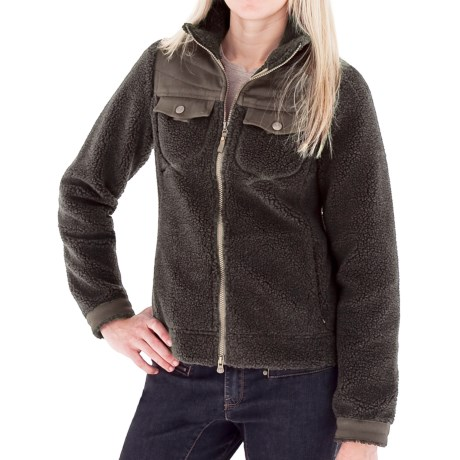 Royal Robbins Tumbled About Jacket - Sherpa Fleece (For Women) in Petrified Oak