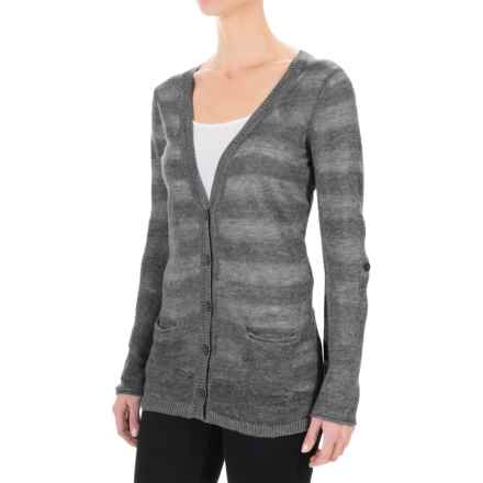 Royal Robbins Tupelo Knit Cardigan Sweater (For Women) in Charcoal - Closeouts