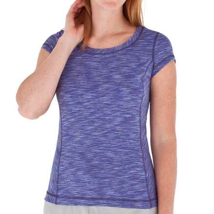 Royal Robbins Valencia Space-Dyed T-Shirt - UPF 50, Short Sleeve (For Women) in Lilac - Closeouts