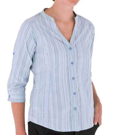 Royal Robbins Venture Shirt - UPF 50+, 3/4 Sleeve (For Women) in Pool - Closeouts