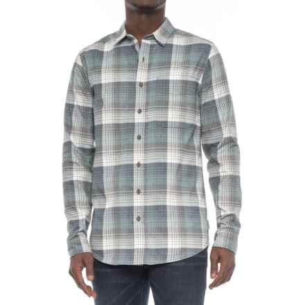 Royal Robbins Vintage Performance Plaid Flannel Shirt - UPF 50, Long Sleeve (For Tall Men) in Poseidon - Overstock