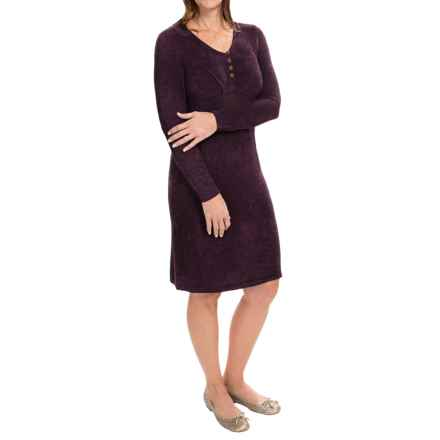 Royal Robbins Voyage Dress - Long Sleeve (For Women) in Blackberry - Closeouts