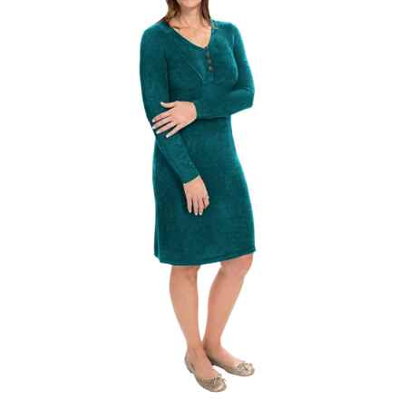 Royal Robbins Voyage Dress - Long Sleeve (For Women) in Deep Teal - Closeouts