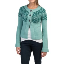 Royal Robbins Voyager Cardigan Sweater (For Women) in Aquarius - Closeouts