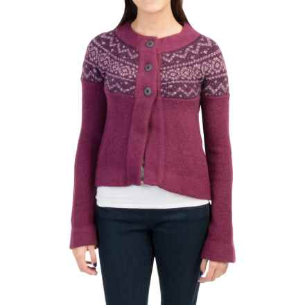 Royal Robbins Voyager Cardigan Sweater (For Women) in Dark Cranberry - Closeouts