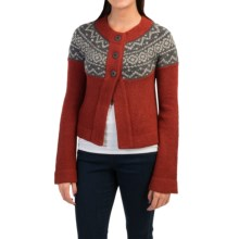 Royal Robbins Voyager Cardigan Sweater (For Women) in Dark Firecrack - Closeouts