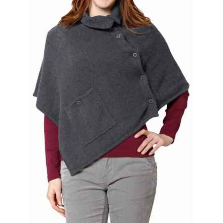 Royal Robbins Voyager Poncho (For Women) in Charcoal - Closeouts