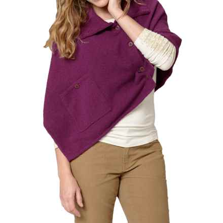 Royal Robbins Voyager Poncho (For Women) in Dark Cranberry - Closeouts