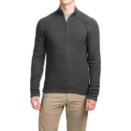 Royal Robbins Voyager Sweater - Zip Neck (For Men) in Charcoal - Closeouts