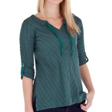 Royal Robbins Wasatch Plaid Pullover Shirt - Long Sleeve (For Women) in Light Teal - Closeouts
