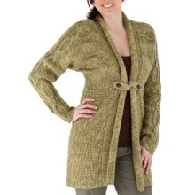 Royal Robbins Whistler Long Cardigan Sweater (For Women) in Cactus Green - Closeouts