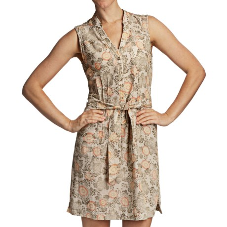 Royal Robbins Wildflower Dress - Organic Cotton Twill, Sleeveless (For Women) in Aloe
