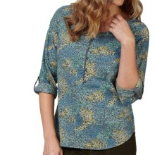 Royal Robbins Wildflower Shirt - Long Sleeve (For Women) in Blizzard Blue - Closeouts