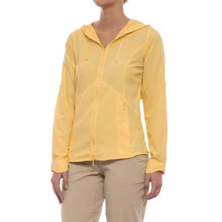 Royal Robbins Windsong Hooded Shirt Jacket - UPF 50+ (For Women) in Light Daffodil - Closeouts