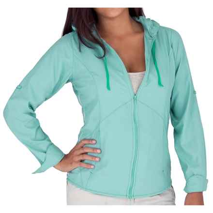 Royal Robbins Windsong Hooded Shirt Jacket - UPF 50+ (For Women) in Nile Blue - Closeouts